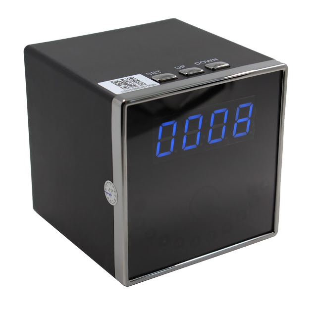 SecuVox® Remote Access Table Clock Wi-Fi Surveillance Camera